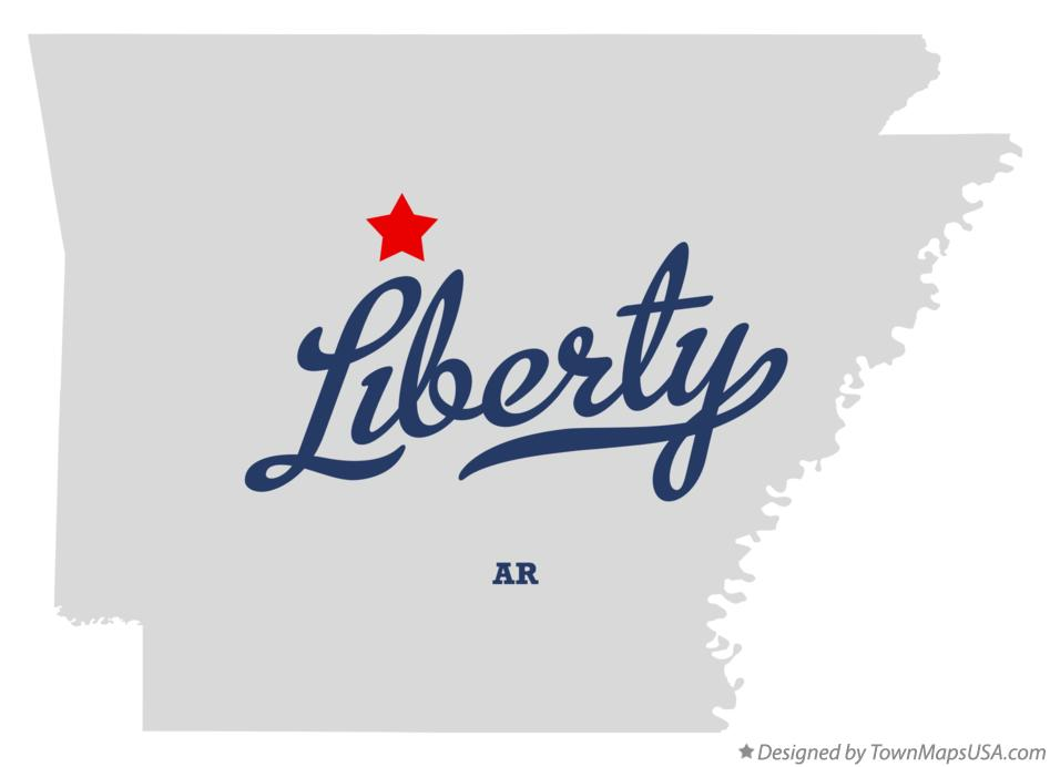 Map of Liberty Arkansas AR