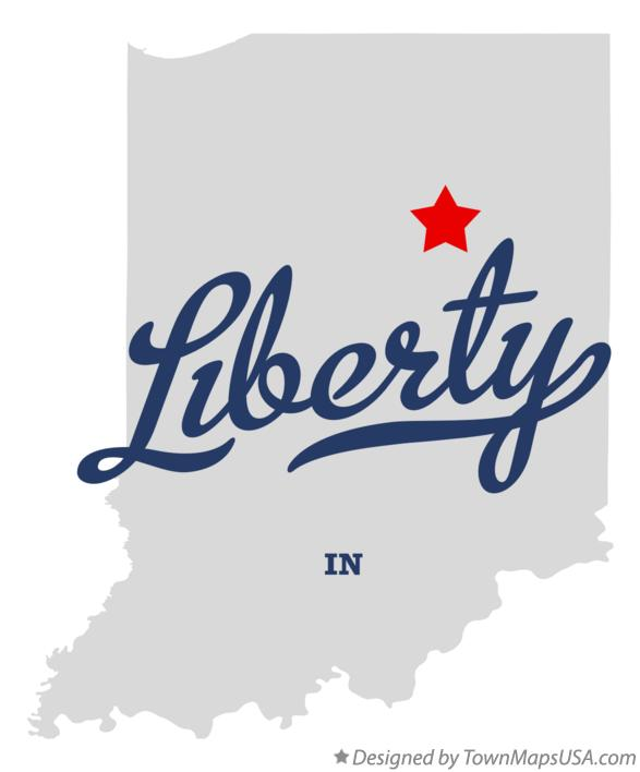 Map of Liberty Indiana IN