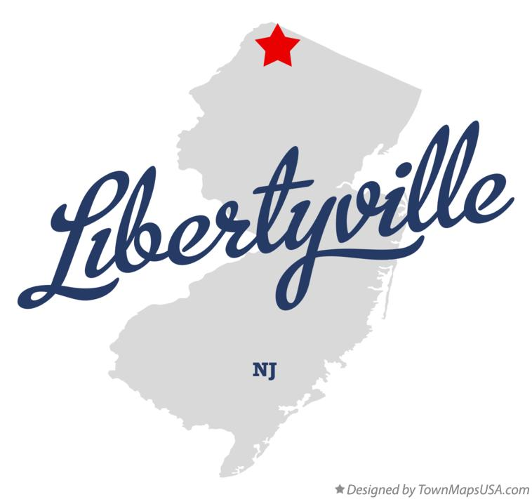 Map of Libertyville New Jersey NJ