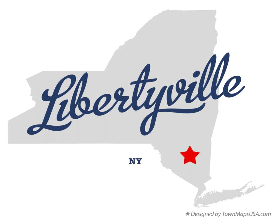 Map of Libertyville New York NY