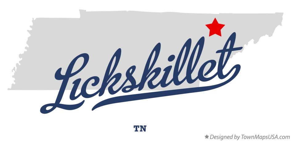 Map of Lickskillet Tennessee TN