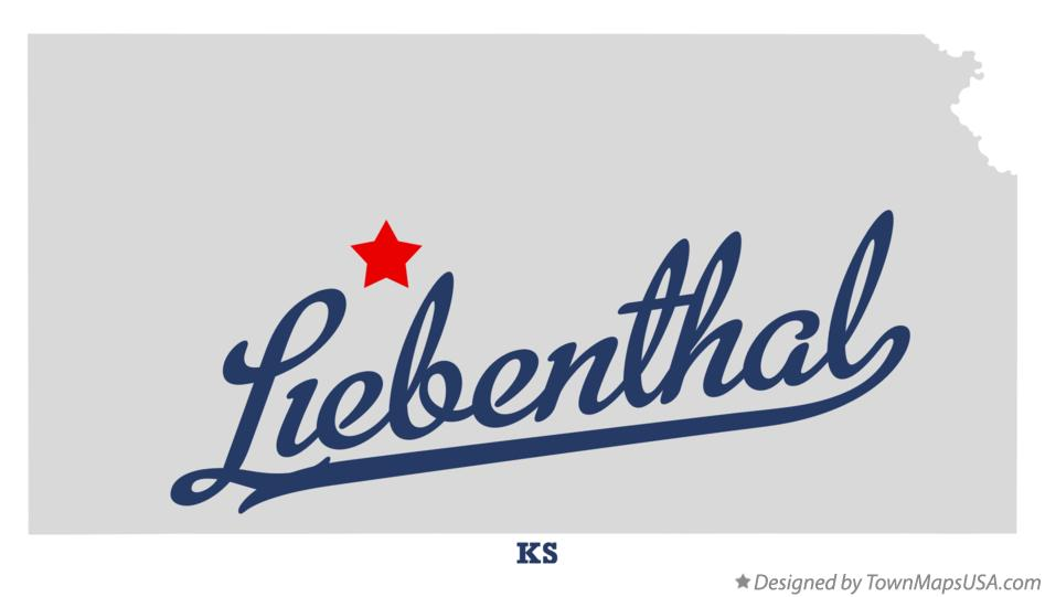 Map of Liebenthal Kansas KS