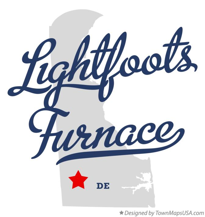 Map of Lightfoots Furnace Delaware DE