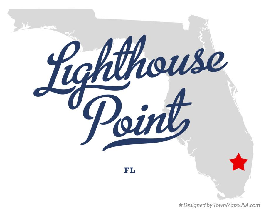 Map Of Lighthouse Point Broward County Fl Florida