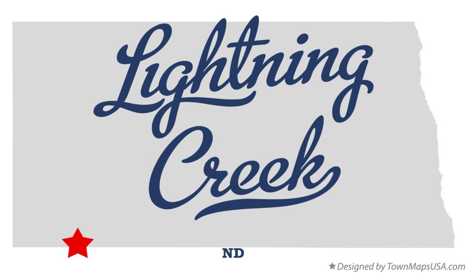 Map of Lightning Creek North Dakota ND