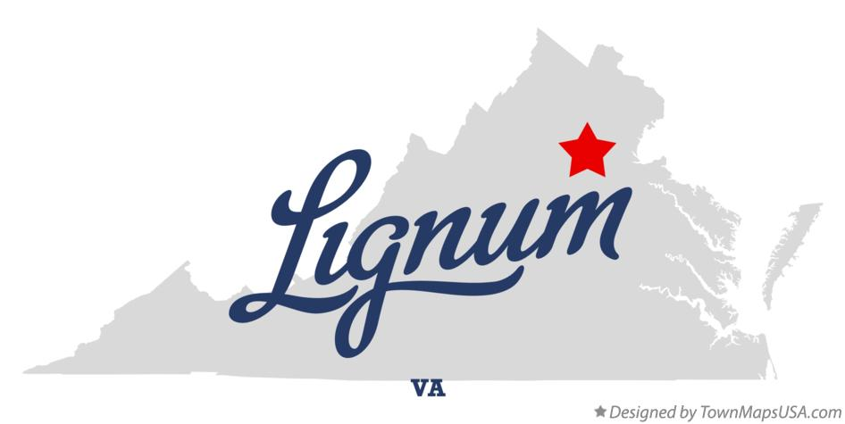 Map of Lignum Virginia VA