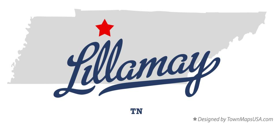 Map of Lillamay Tennessee TN