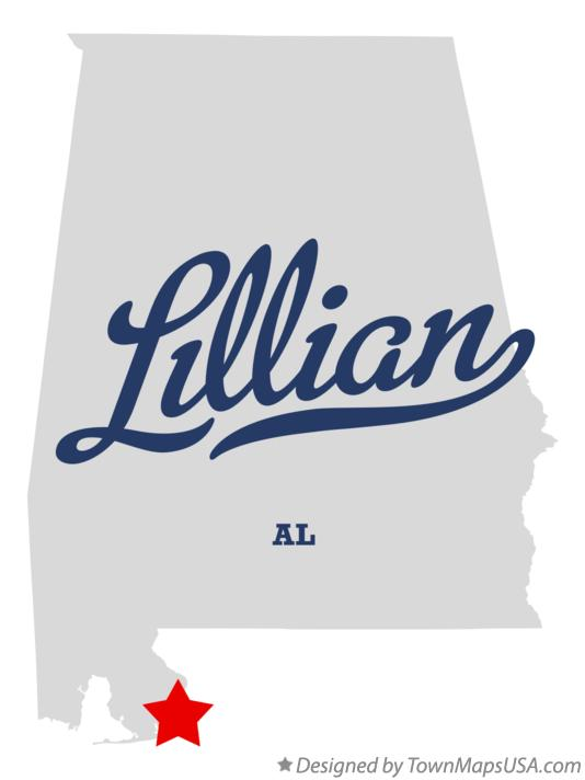 Map of Lillian Alabama AL