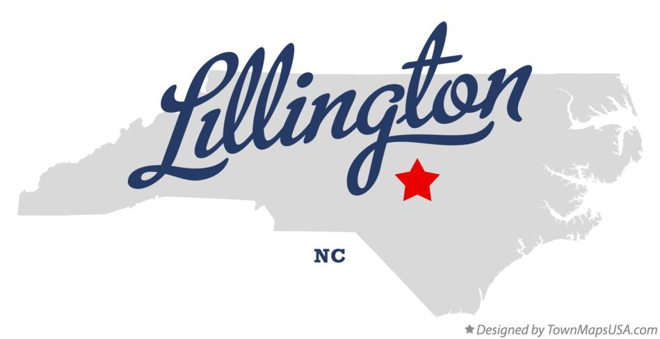 Map of Lillington North Carolina NC
