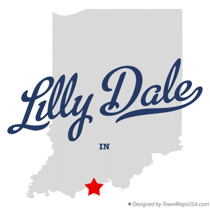 Map of Lilly Dale Indiana IN
