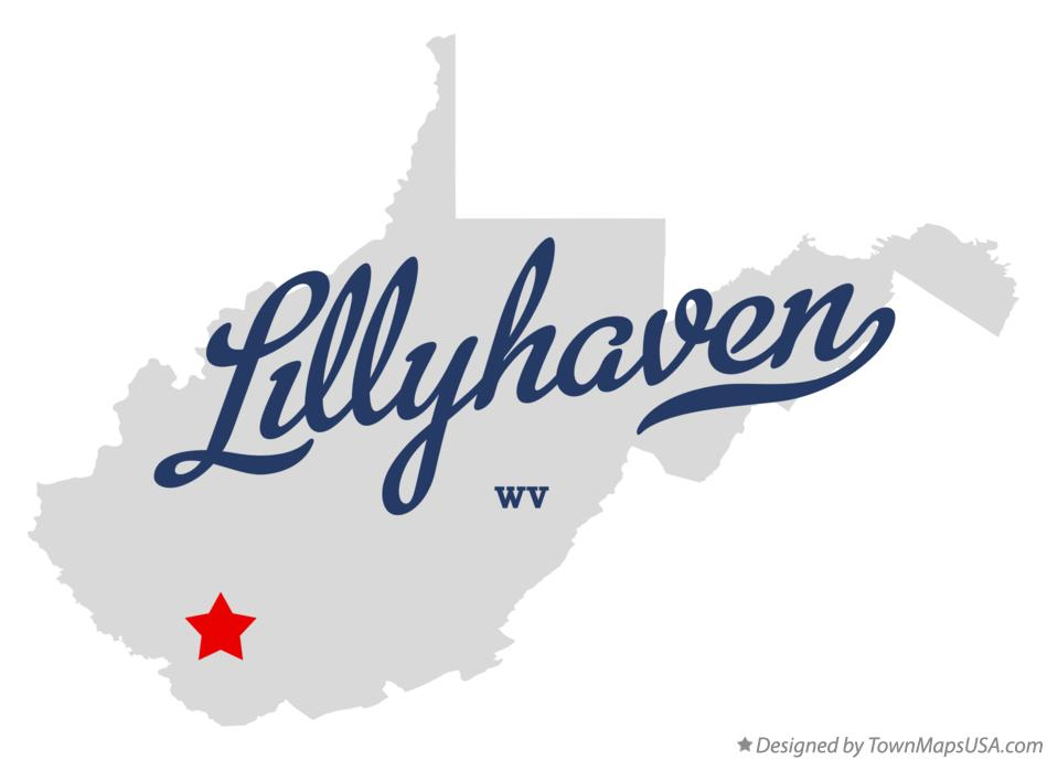Map of Lillyhaven West Virginia WV