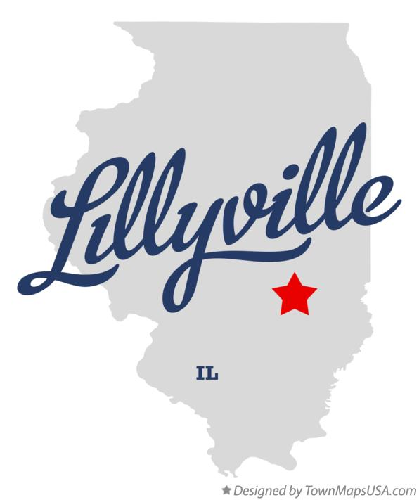 Map of Lillyville Illinois IL