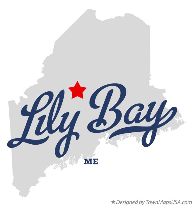 Map of Lily Bay Maine ME