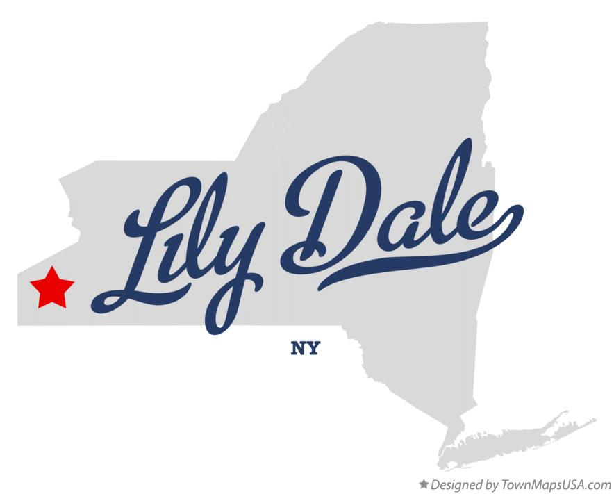 Map of Lily Dale New York NY