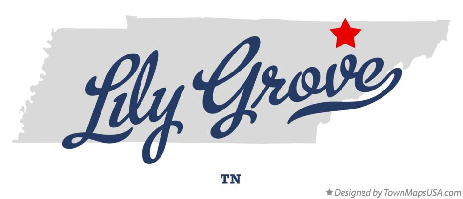 Map of Lily Grove Tennessee TN