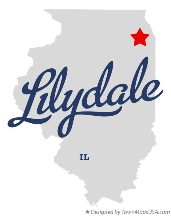 Map of Lilydale Illinois IL