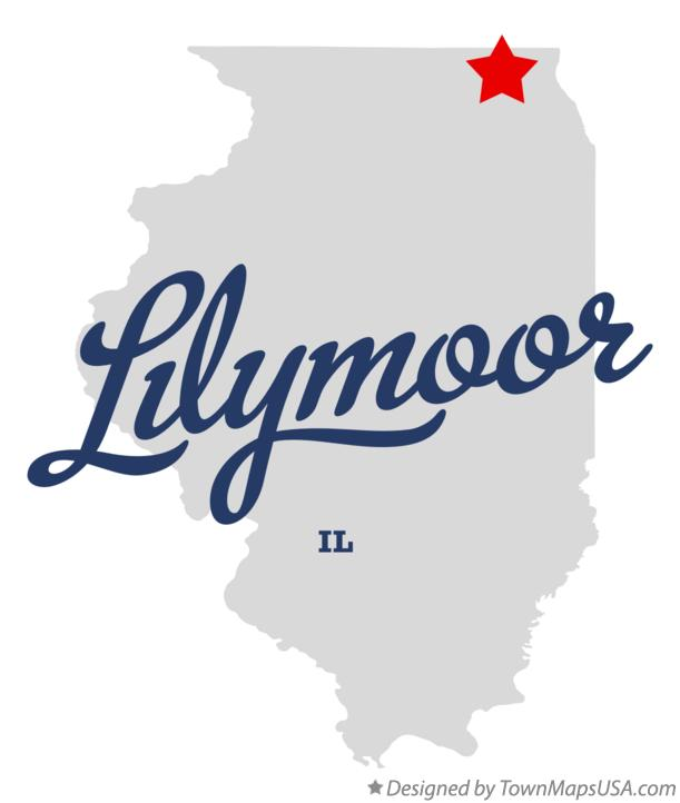 Map of Lilymoor Illinois IL