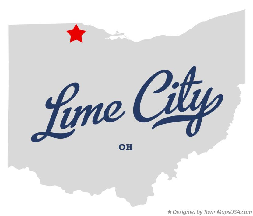 Map of Lime City Ohio OH
