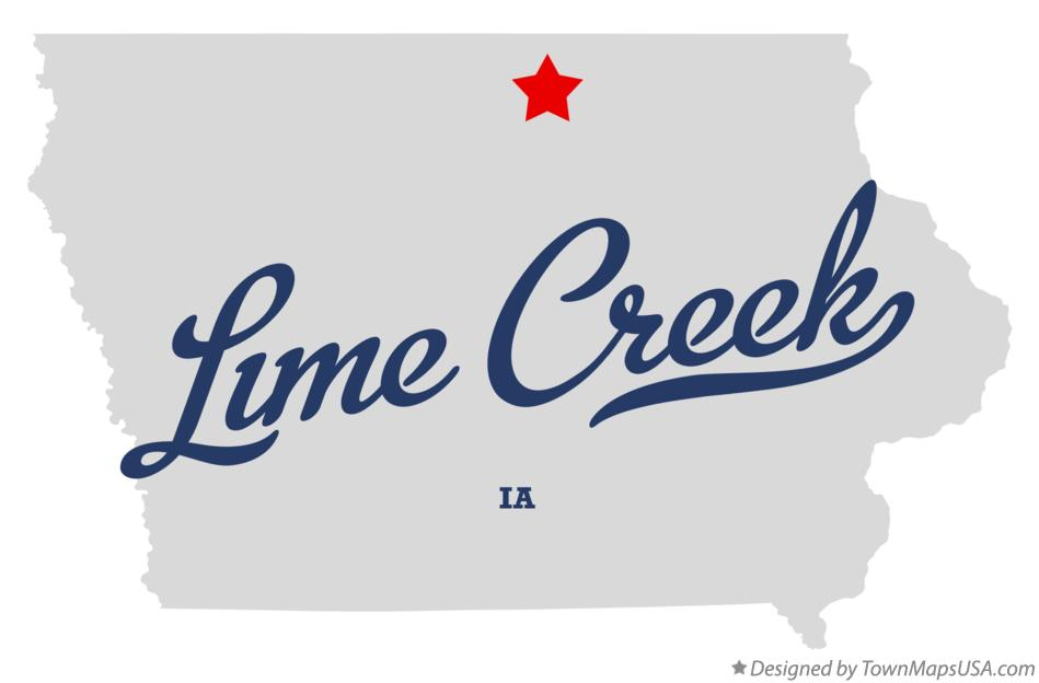Map of Lime Creek Iowa IA