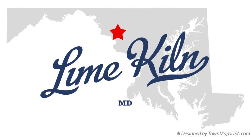 Map of Lime Kiln Maryland MD