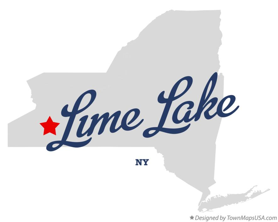 Map of Lime Lake New York NY
