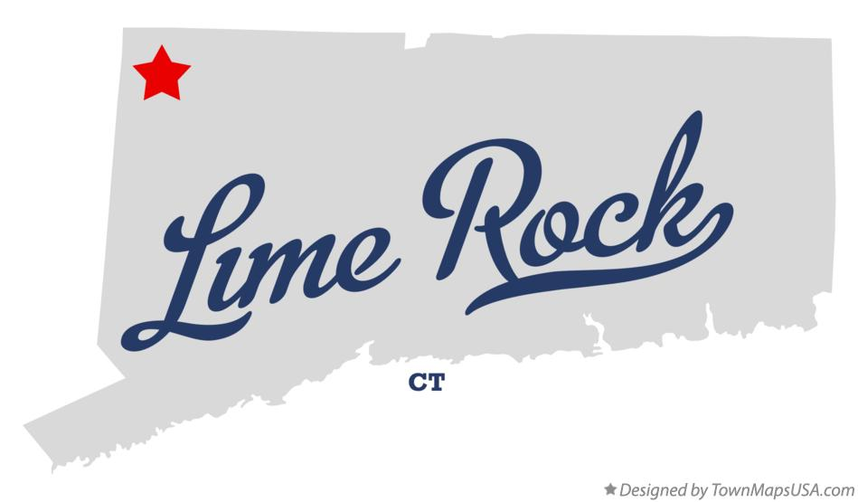 Map of Lime Rock Connecticut CT