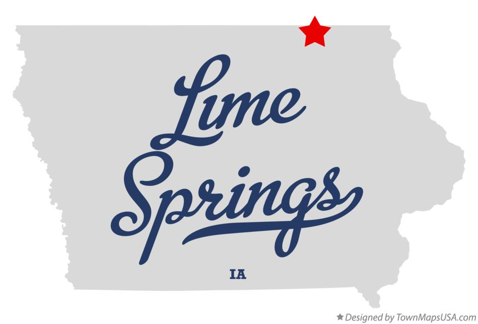 Map of Lime Springs Iowa IA