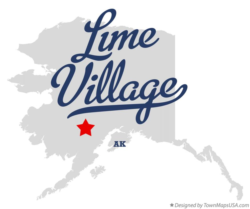 Map of Lime Village Alaska AK