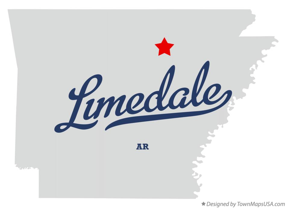 Map of Limedale Arkansas AR