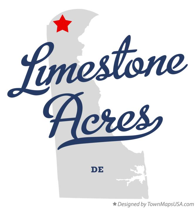 Map of Limestone Acres Delaware DE