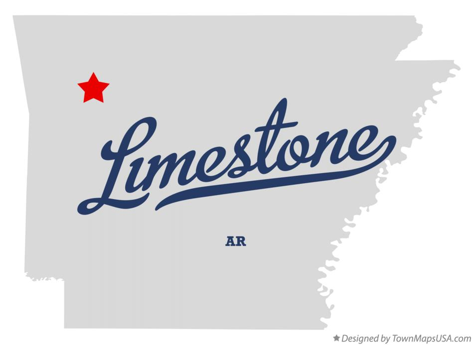 Map of Limestone Arkansas AR