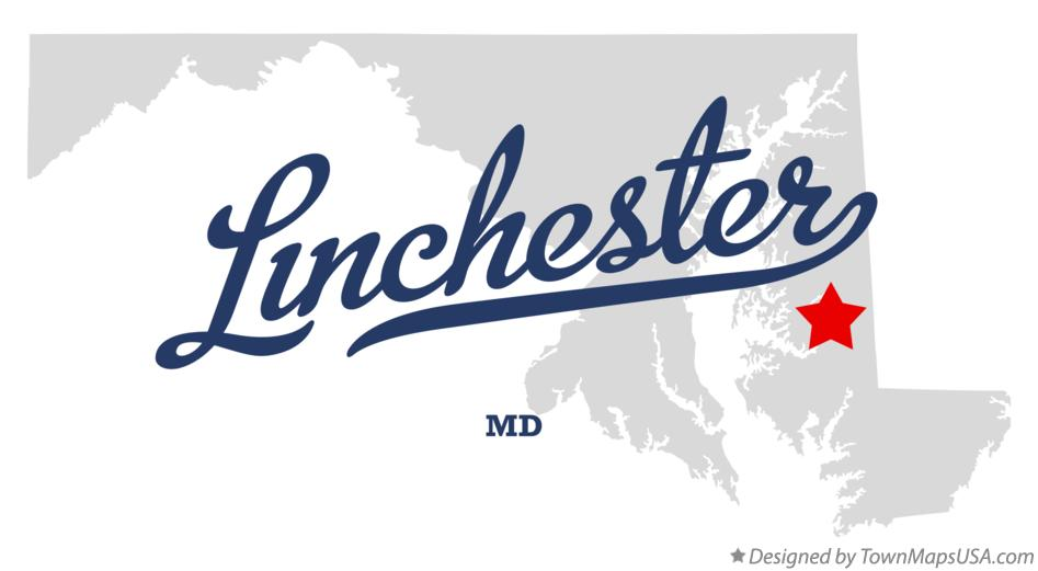 Map of Linchester Maryland MD