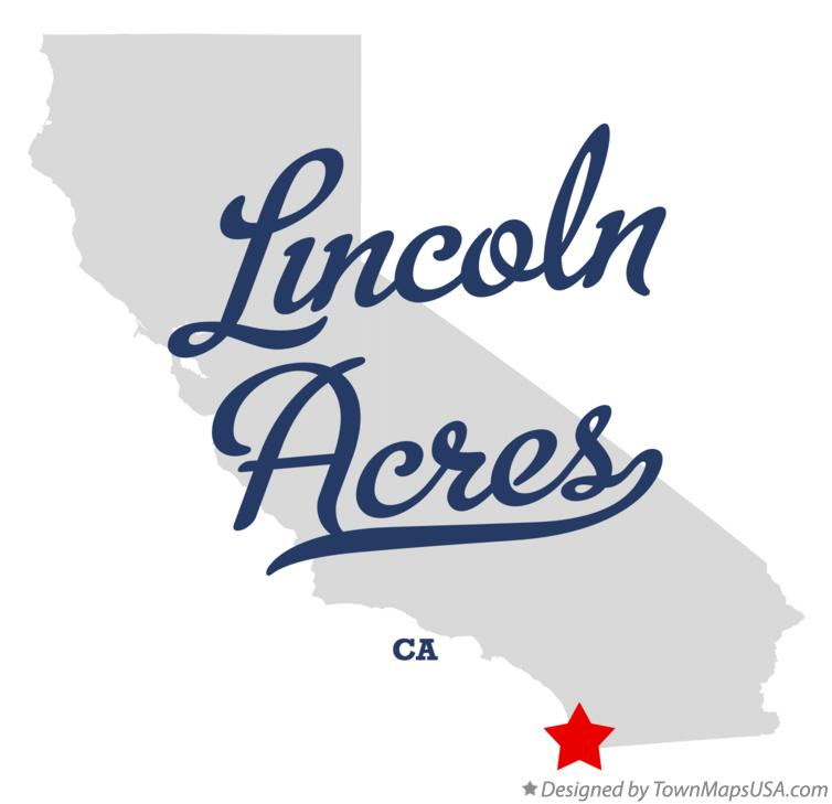 Map of Lincoln Acres California CA