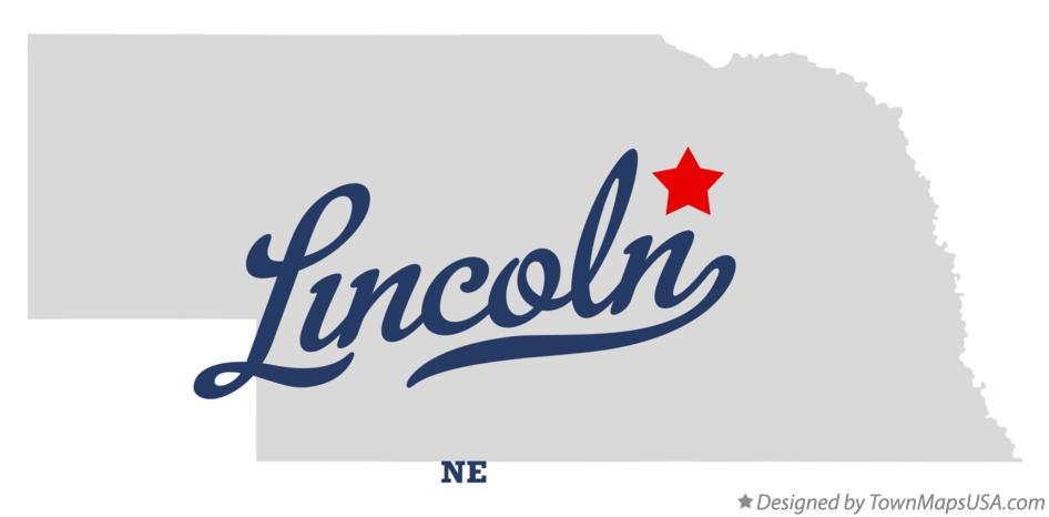 Map of Lincoln Nebraska NE
