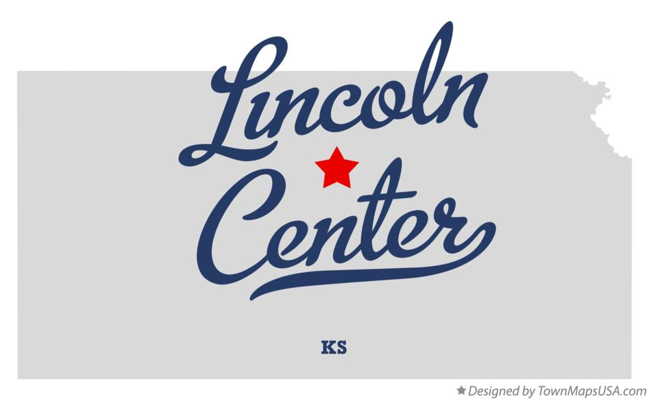 Map of Lincoln Center Kansas KS