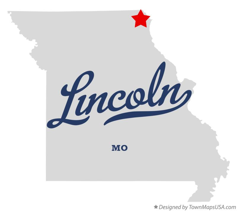 Map of Lincoln Missouri MO
