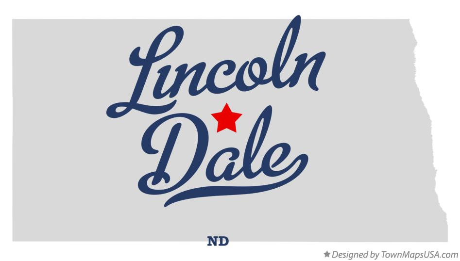 Map of Lincoln Dale North Dakota ND