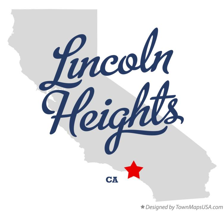 Map of Lincoln Heights California CA