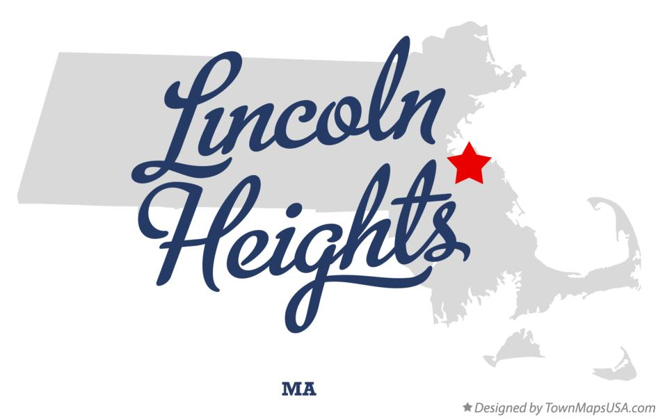 Map of Lincoln Heights Massachusetts MA