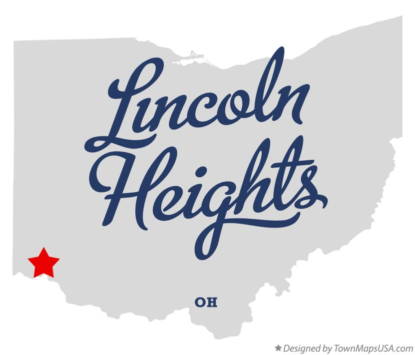 Map of Lincoln Heights Ohio OH