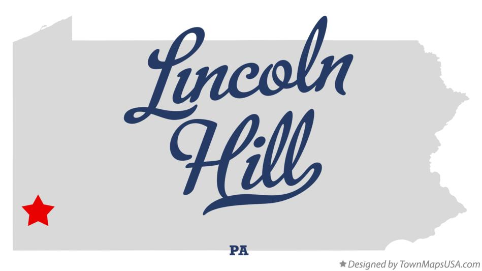Map of Lincoln Hill Pennsylvania PA