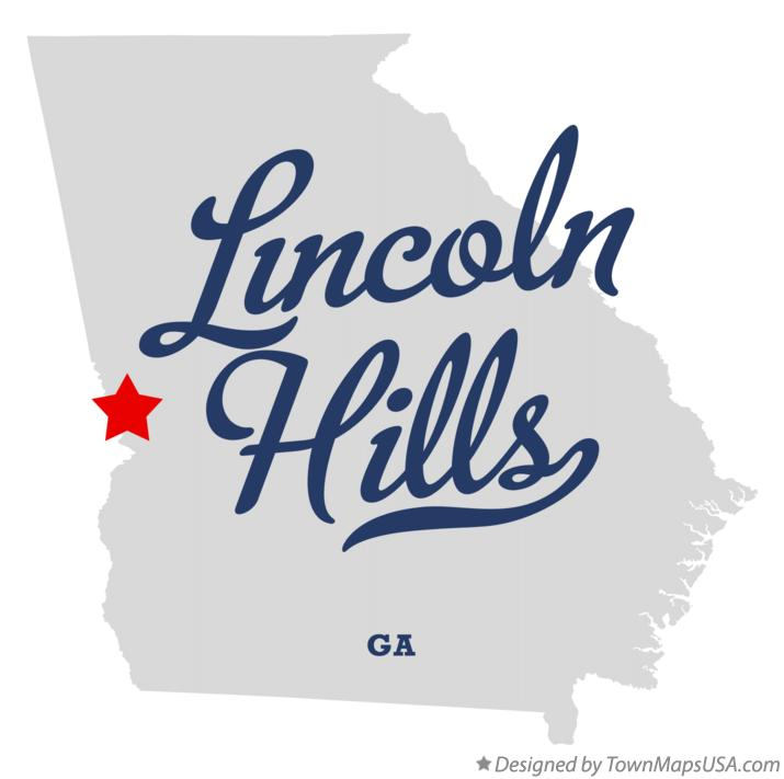 Map of Lincoln Hills Georgia GA