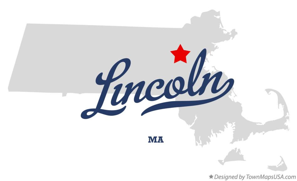 Map of Lincoln Massachusetts MA