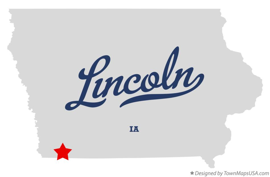Map of Lincoln Iowa IA
