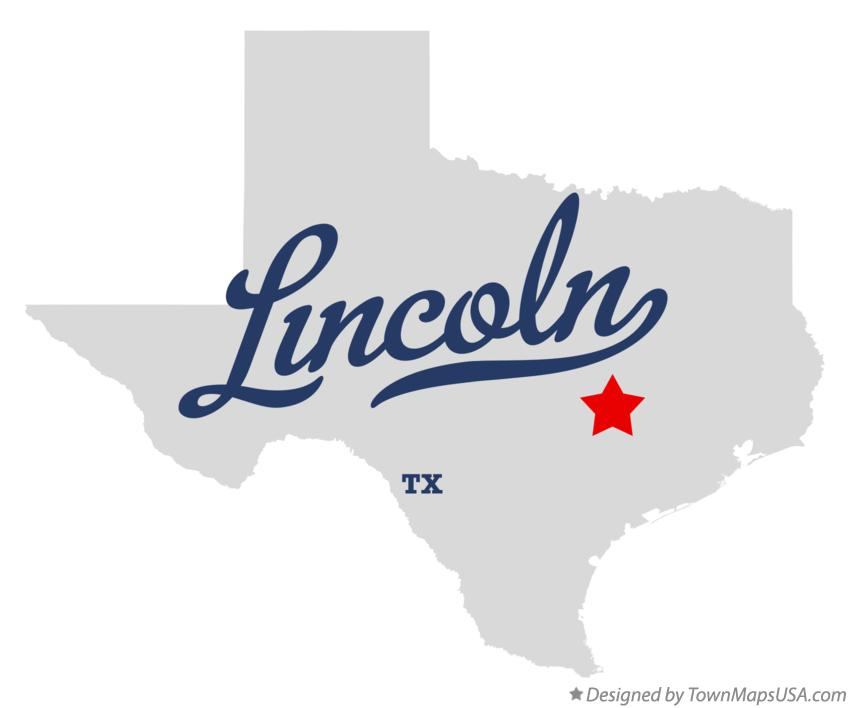 Map of Lincoln Texas TX
