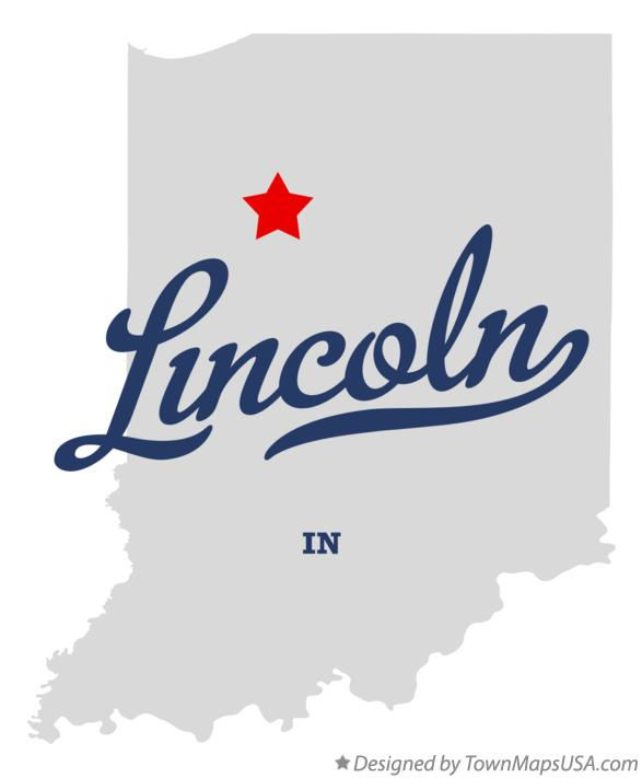Map of Lincoln Indiana IN