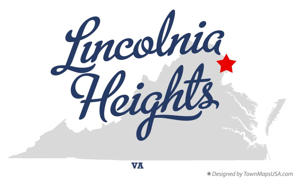 Map of Lincolnia Heights Virginia VA