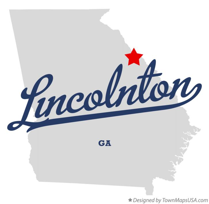 Map of Lincolnton Georgia GA
