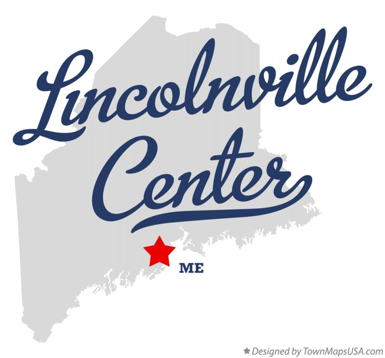 Map of Lincolnville Center Maine ME