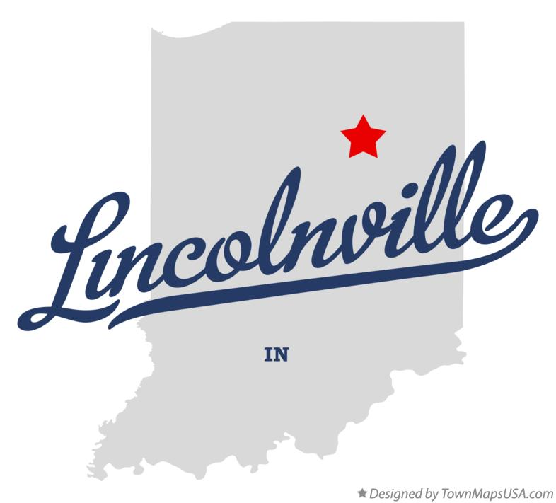 Map of Lincolnville Indiana IN